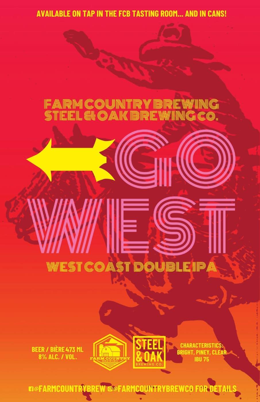 Go West Beer IPA Poster