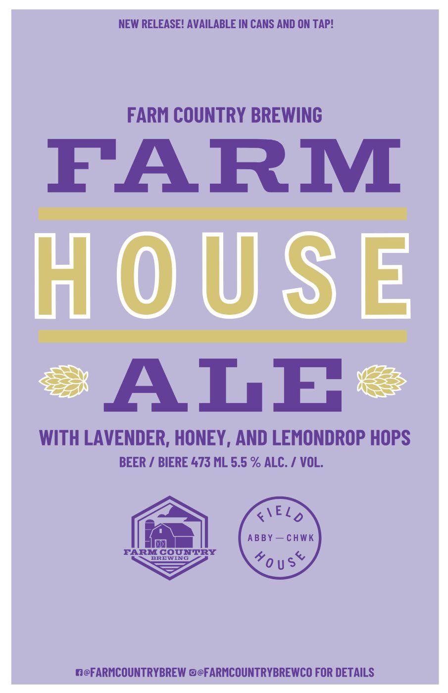 farm house ale poster